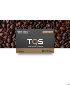 TQS Kávé ízű nikotinmentes hevítőrúd - 1 DOBOZ