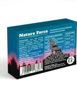 Nature Force 2kapszulás alkalmi potencianő férfiaknak. hátulja